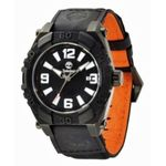 Timberland 13321JSB_02 Mens Black Dial Analog Quartz Watch with Nylon Strap