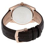 Citizen AU1043-00E Mens Black Dial Analog Quartz Watch with Leather Strap