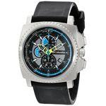 Columbia CA100007 Mens Black Dial Analog Quartz Watch with Silicone Strap
