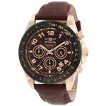 Invicta 10712 Mens Quartz with Leather Strap Watch
