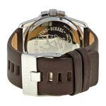 Diesel DZ1206 Mens Grey Dial Analog Quartz Watch with Leather Strap