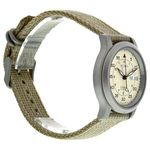 Seiko Seiko 5 SNK803 Mens Beige Dial Analog Automatic Watch with Canvas Strap