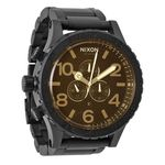Nixon A0831354 Mens Brown Dial Analog Quartz Watch with Stainless Steel Strap