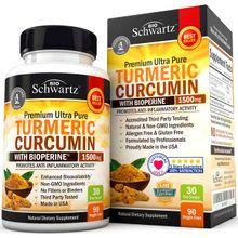 BioSchwartz Turmeric Curcumin with BioPerine 1500mg 30 Day Supply 90 Veggie Caps