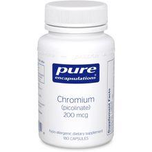 Pure Encapsulations - Chromium Picolinate (200 mcg) - Hypoallergenic Glucose Metabolism - 180 Capsules