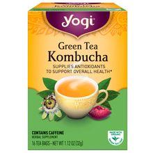 Yogi Tea, Green Tea Kombucha, 16 Tea Bags, 1.12 oz (32 g) YGT-45021