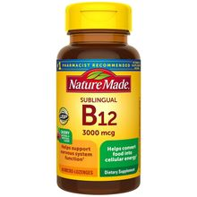 Nature Made Sublingual Vitamin B12 3000 mcg 40 Micro Lozenges