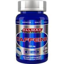 ALLMAX Nutrition, 100% Pure Caffeine + Easy-To-Cut in Half Pill, 200 mg, 100 Tablets AMX-12622