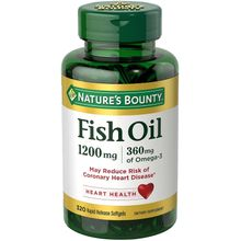 Natures Bounty Fish Oil 1200mg Softgels, 320-Count