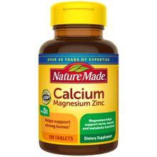 Nature Made Calcium Magnesium Zinc 100 Tablets