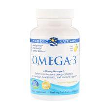 Nordic Naturals Omega-3 1000 Mg Soft Gels Lemon Flavor 60 Count