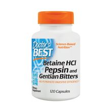 Doctor's Best Betaine Hcl Pepsin & Gentian Bitters 120Capsules