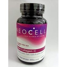 NeoCell Super Collagen Plus C 6000 mg Type 1 & 3 for Hair, Skin, Joints & Bones- 120 Tablets