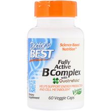 Doctor's Best Fully Active B Complex with Quatrefolic 60 Veggie Caps