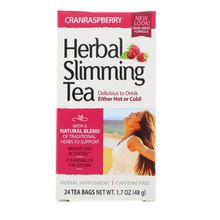 21st Century Herbal Slimming Tea Cranraspberry 24 Tea Bags 1.7 oz (45 g)