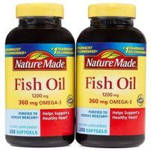 Nature Made Fish Oil 1200 Mg (Omega 3 360 Mg) 400 Softgels