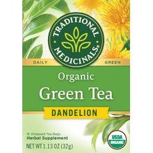 Traditional Medicinals Teas Organic Green Tea Dandelion 16 bag