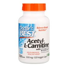 Doctor's Best Acetyl L-Carnitine 500 Mg 120 Capsules