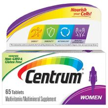 Centrum Multivitamin Multimineral Supplement For Women 65 Count Tablets