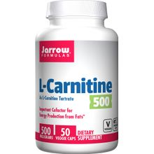Jarrow Formulas L-Carnitine 500, 500 mg 50 Capsules