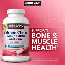 Kirkland Signature Calcium Citrate Magnesium and Zinc with Vitamin D3, 500 Tablets