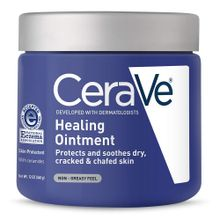 CeraVe Healing Ointment Cracked Skin Repair Skin Protectant with Petrolatum Ceramides 12 Ounce