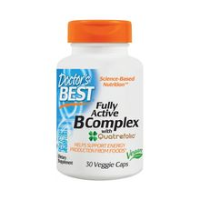Doctor's Best Fully Active B Complex with Quatrefolic 30 Veggie Caps