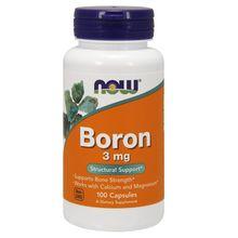 Now Foods Boron, 100 Caps 3 mg