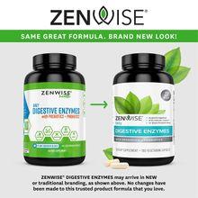 Zenwise Health Digestive Enzymes Plus Prebiotics & Probiotics 180 Vegetarian Capsules