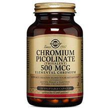 Solgar Chromium Picolinate 500 mcg, 120 Vegetable Capsules
