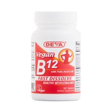 Deva, Vegan, B12 with Folic Acid & B6, 90 Tablets