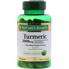 Nature's Bounty Turmeric 1000mg - 60 Capsules