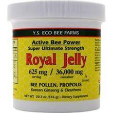 Y.S. Eco Bee Farms Fresh Royal Jelly + Bee Pollen, Propolis, Ginseng, Honey Mix - 36,000Mg Org 20.3 Oz