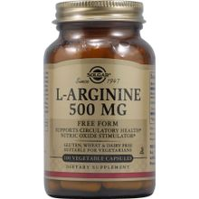 Solgar L-Arginine 500 mg - 100 Vegetable Capsules