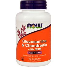 NOW Foods Glucosamine & Chondroitin with MSM -90 Capsules