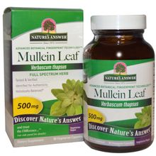 Nature's Answer Mullein Leaf 500 mg 90 Vegetarian Capsules