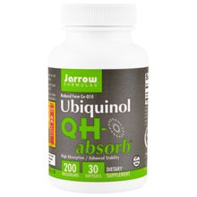 Jarrow Formulas Ubiquinol QH-absorb 200 mg 30 Softgels