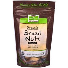 Now Foods, Real Food, Organic Brazil Nuts, Unsalted, 10 oz (284 g) NOW-07022