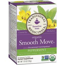 Traditional Medicinals Organic Smooth Move Herbal Tea Peppermint - 16 Tea Bags