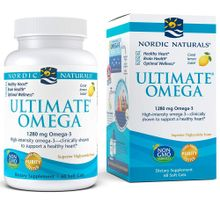 Nordic Naturals Ultimate Omega Lemon -- 1000 mg - 60 Softgels