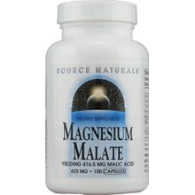 Source Naturals Magnesium Malate - 625 mg - 100 Capsules