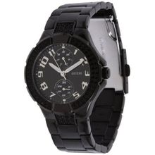 Guess U13586L3 Womens Black Dial Quartz Watch with Polyurethane Strap