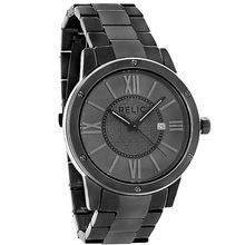 Relic ZR11998 Mens Charcoal Dial Analog Quartz Watch with Stainless Steel Strap