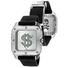 Toy Watch TW07SW Unisex Silver Dial Analog Quartz Watch with Rubber Strap