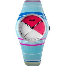 Noon 01-048 Womens Red Dial Analog Quartz Watch with Plastic Strap