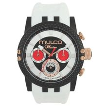 Mulco MW3-11169-015 Mens Black Dial Analog Quartz Watch with Silicone Strap