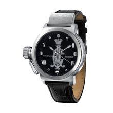 Christian Audigier ETE-102 Mens Analog Quartz Watch with Leather Strap