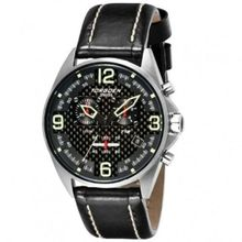 Torgoen Men's Aviator Analog Quartz Chronograph Watch T18101 With Leather Strap