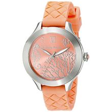 Tommy Bahama 10018338 Womens Orange Dial Analog Quartz Watch with Silicone Strap