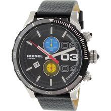 Diesel DZ4331 Mens Black Dial Analog Quartz Watch with Leather Strap